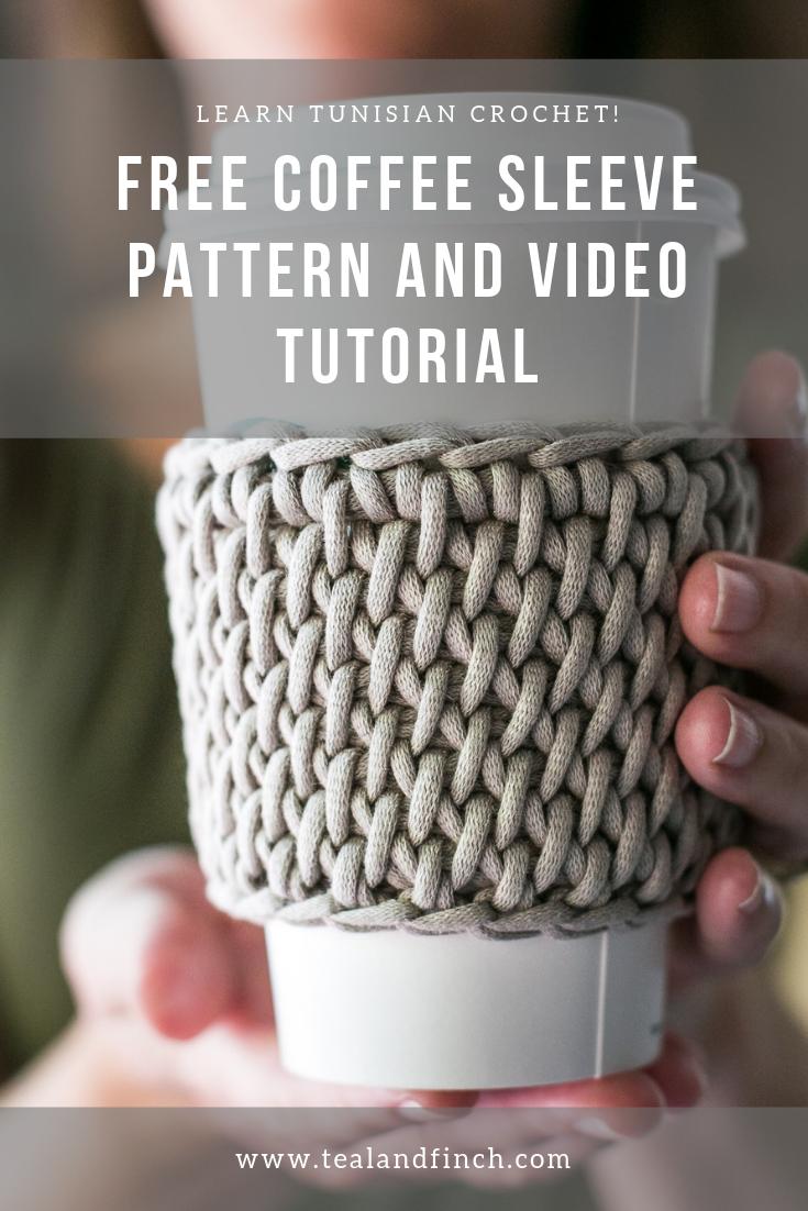 Learn Tunisian Crochet with an Easy Coffee Cozy