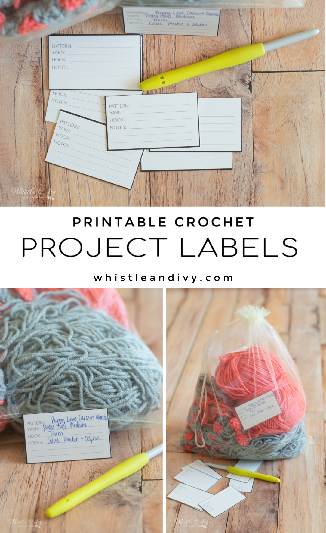 free printable project labels for crochet projects print and cut