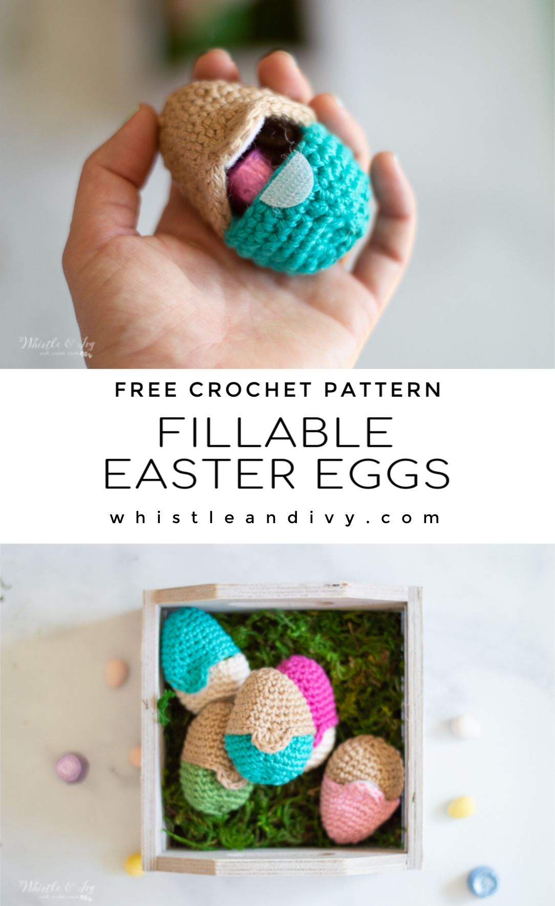 crochet Easter eggs fillable eggs for egg hunts and easter baskets