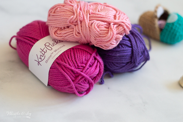 beautiful cotton yarn in bright colors