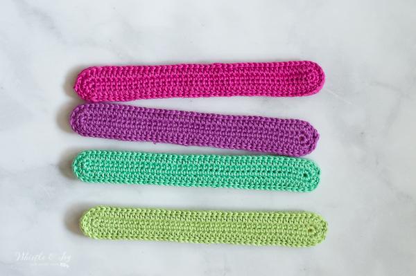 crochet slap bracelet