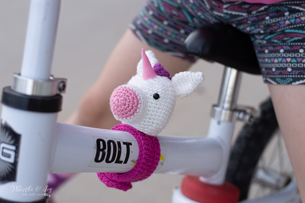 crochet unicorn free crochet pattern slap bracelet on bike