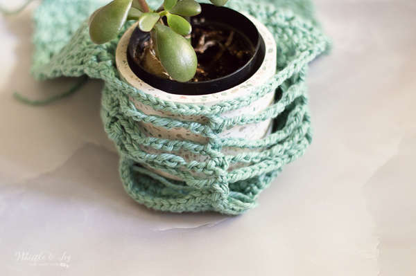 faux macrame wall hanging crochet pattern