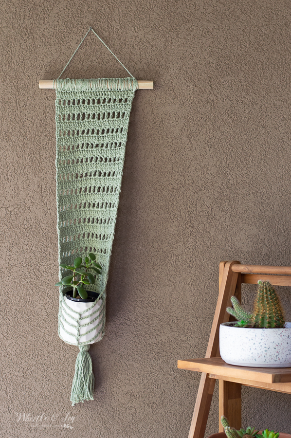 porch decor crochet pattern faux macrame wall hanging