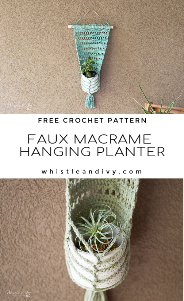 crochet wall hanging planter