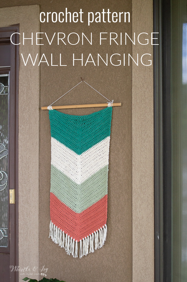 crochet chevron fringe wall hanging crochet decor pattern