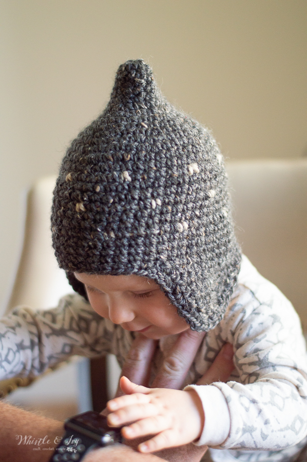 Baby pixie hat crochet pattern rustic crochet pattern