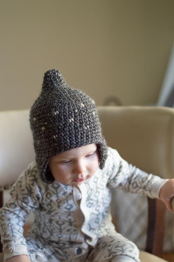 cute baby winter fall crochet pixie hat for baby crochet pattern
