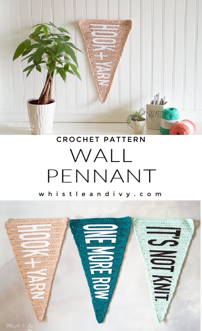 cute crochet wall pennant crochet decor pattern