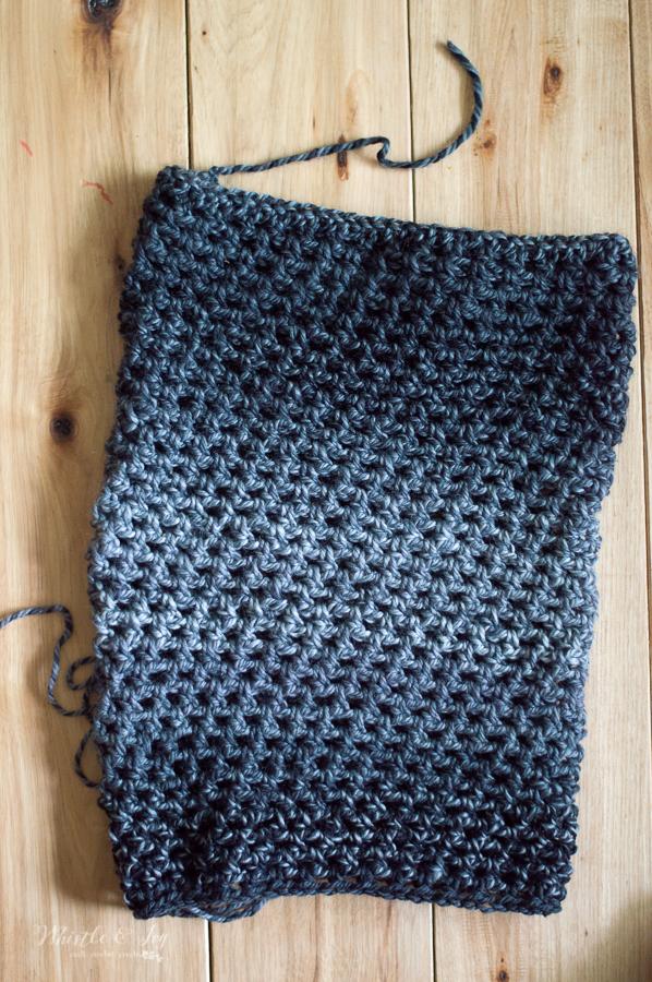 easy chunky crochet cowl