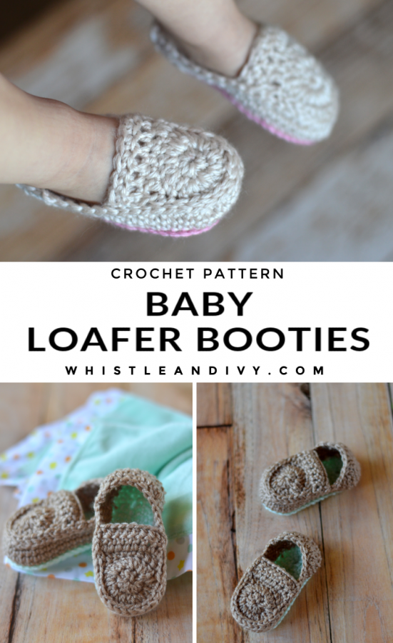 Crochet loafer booties for baby crochet pattern cute crochet for babies