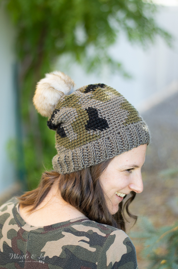 crochet camo design hat crochet pattern for fall hat toque pattern