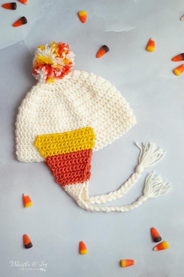 crochet candy corn hat crochet pattern halloween crochet