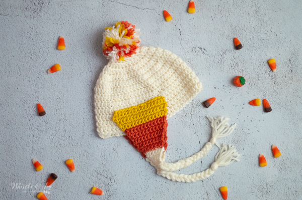 crochet pattern for candy corn baby hat