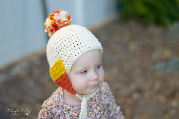 crochet candy corn hat for baby free crochet pattern