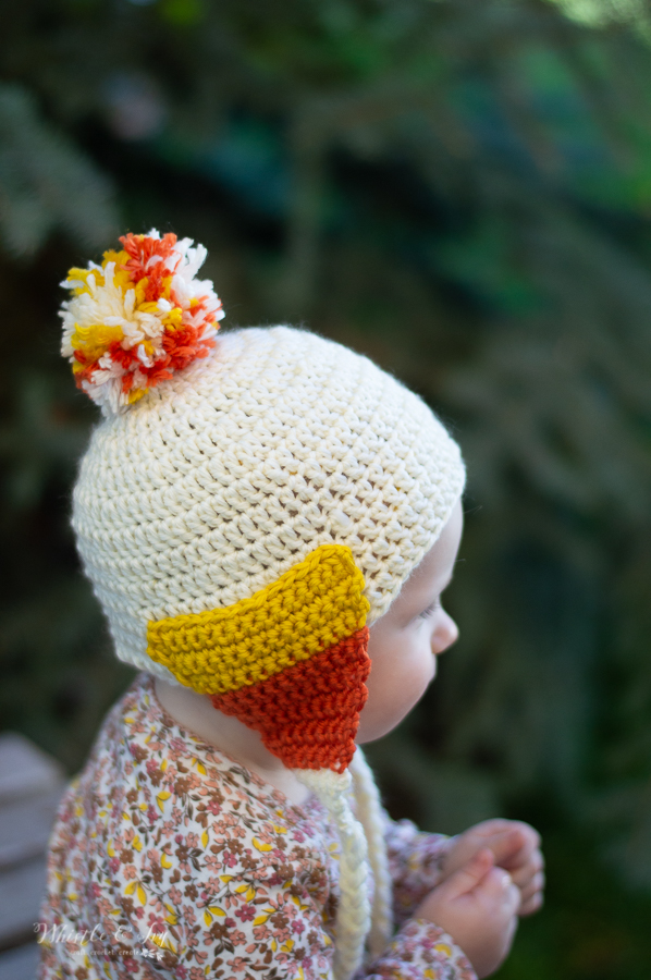 crochet halloween candy corn hat for baby free crochet pattern for fall