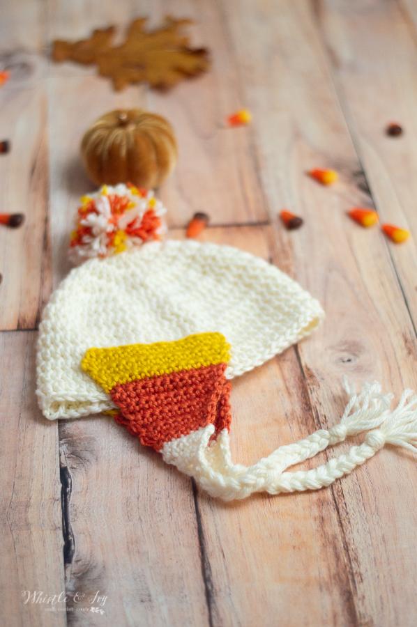 crochet candy corn hat free pattern for baby hat fall warm hat halloween crochet