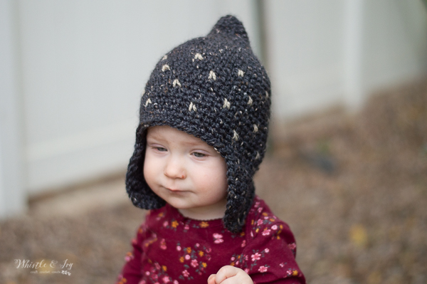 rustic pixie hat crochet pattern for baby and kids