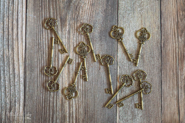 brass keys for Harry Potter ornaments