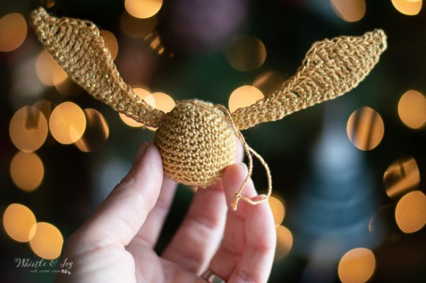 crochet snitch crochet pattern Harry Potter crochet ideas ornament