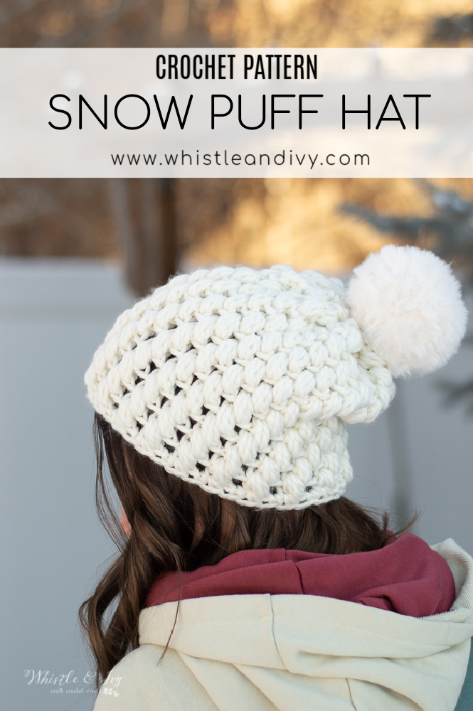 crochet pattern puff stitch hat pretty gift idea quick gift easy crochet pattern