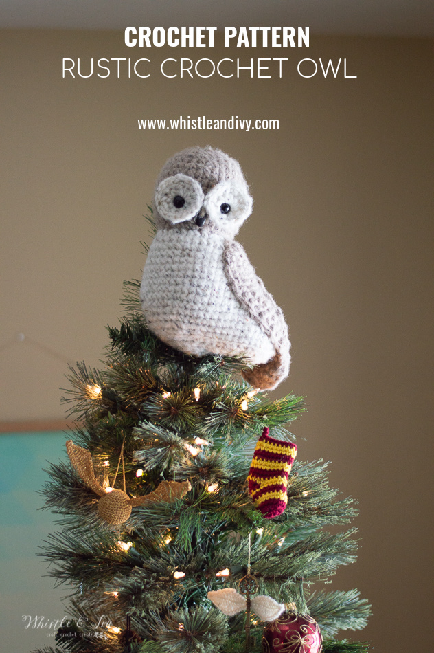 crochet owl rustic owl tree topper crochet pattern