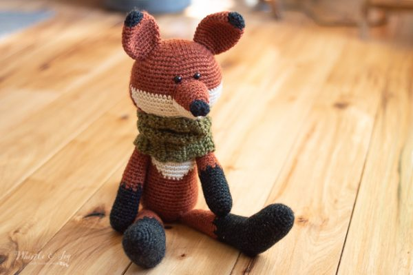 cute crochet fox amigurumi toy pattern