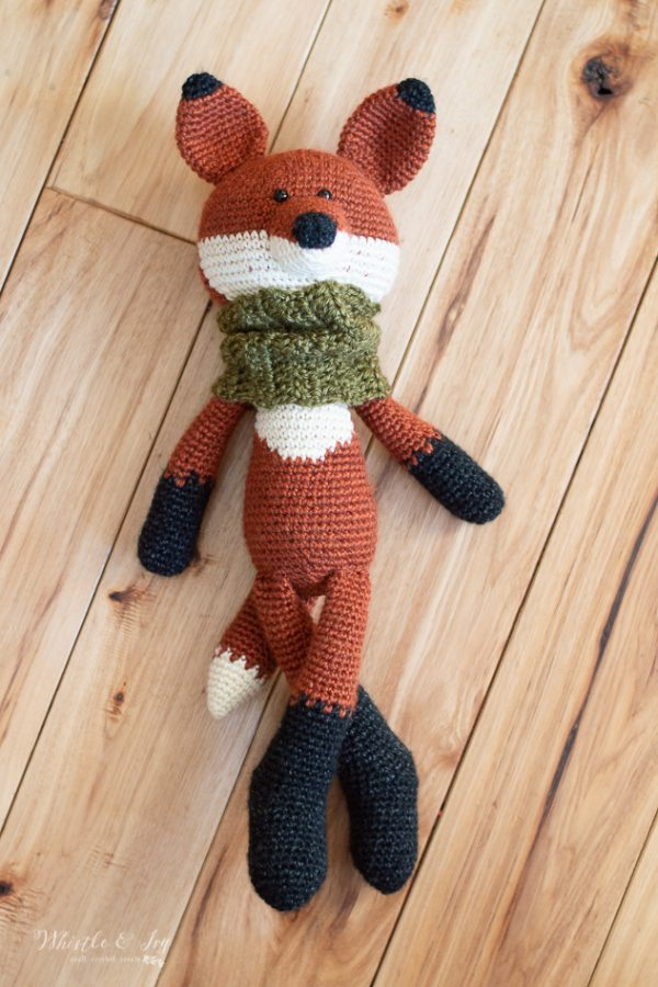 cute crochet fox pattern with cowl scarf crochet toy