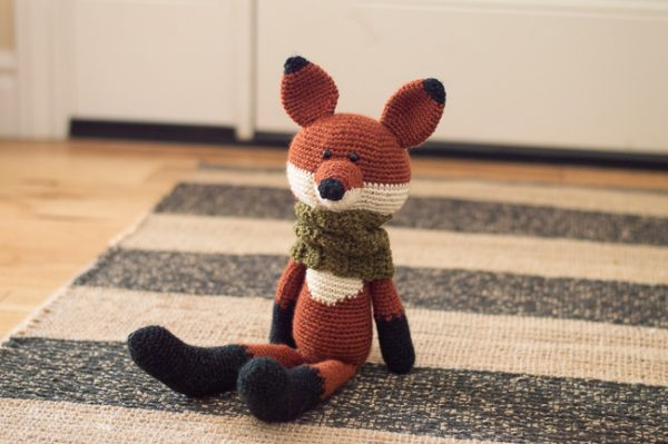crochet toy fox crochet pattern woodland fox amigurumi