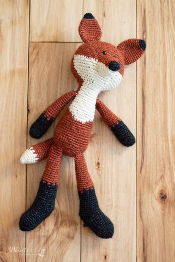 crochet fox woodland pattern toy plushy amigurumi