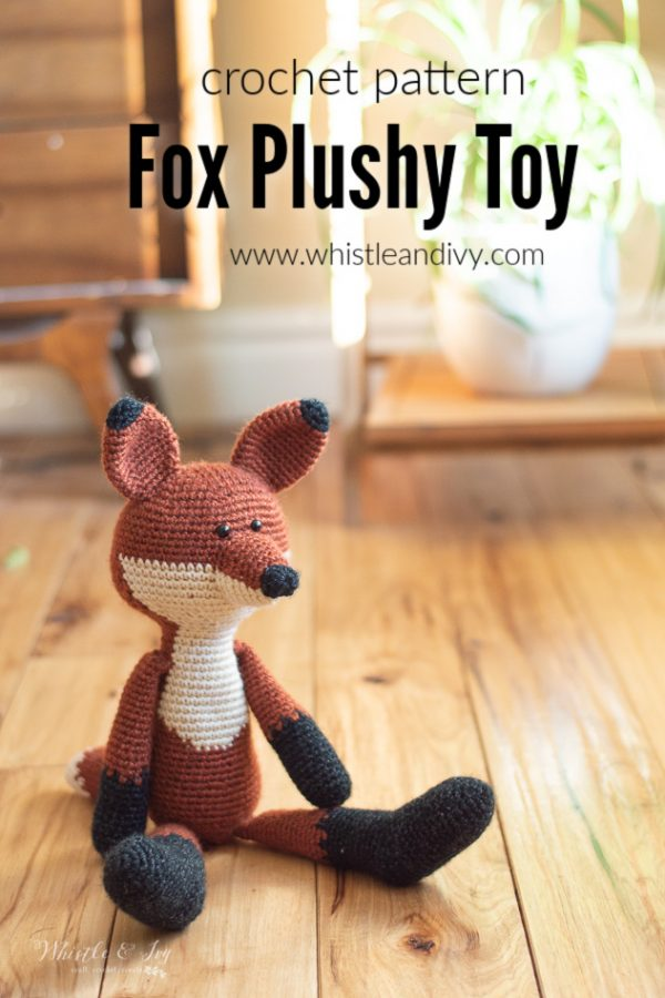 modern crochet fox toy crochet pattern amigurumi fox