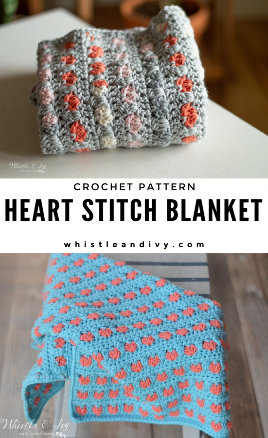 crochet heart stitch blanket crochet pattern valentines day project blanket afghan