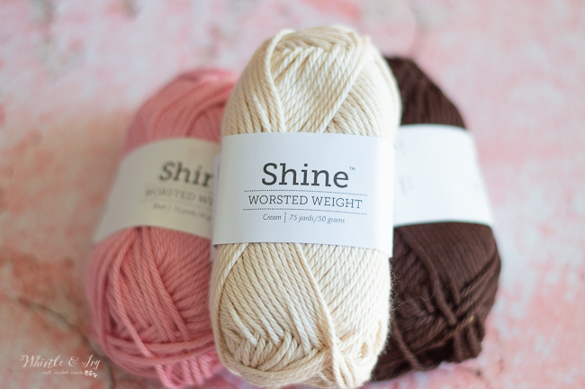 cotton yarn vanilla strawberry chocolate