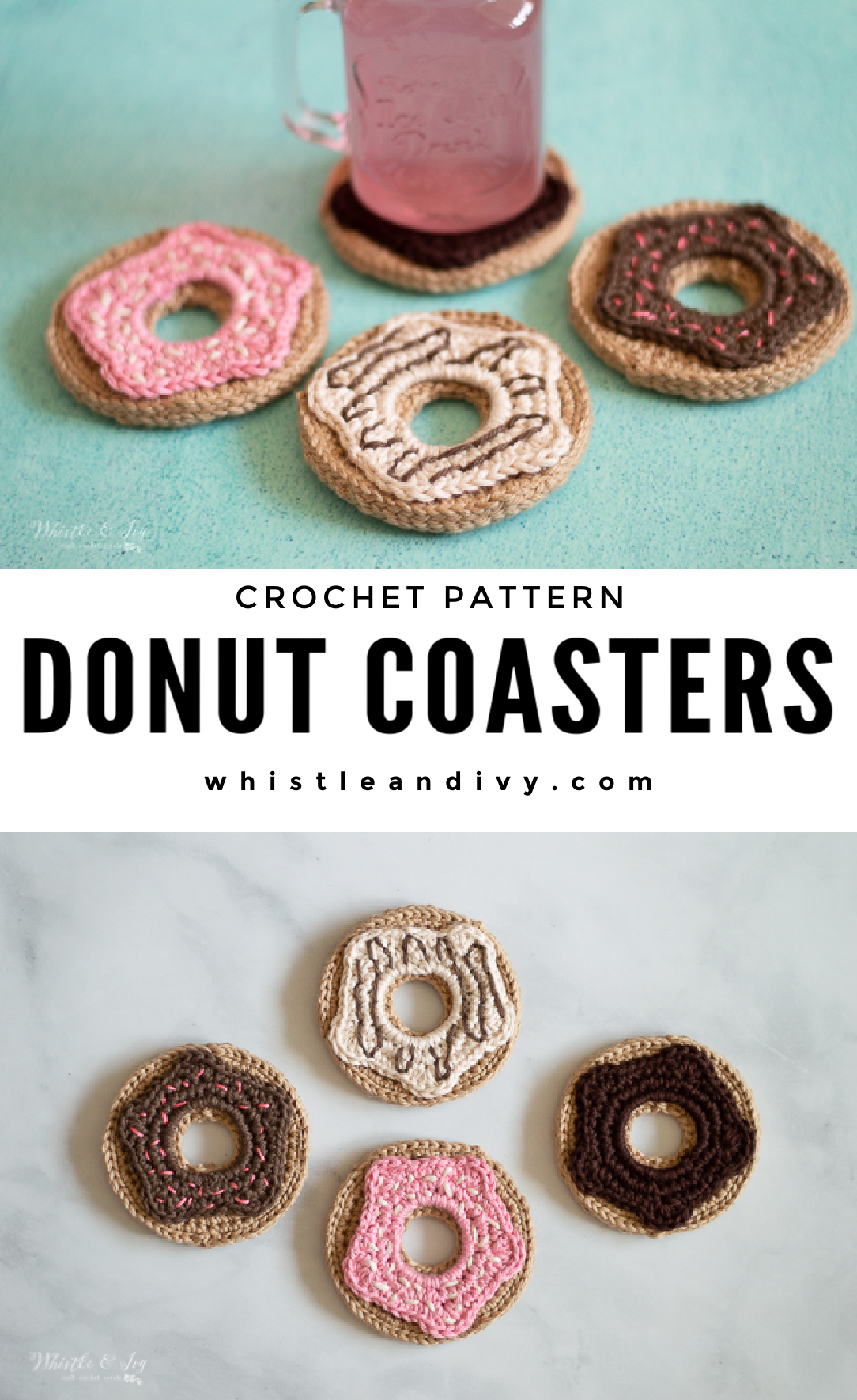 crochet donut coasters crochet pattern crochet doughnut play food crochet pattern