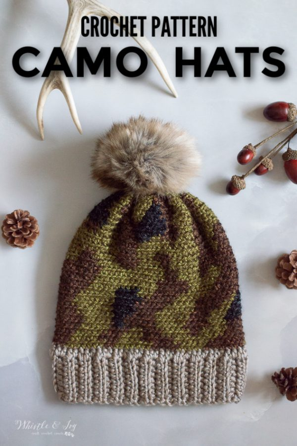 crochet camo hat crochet pattern crochet hat winter fall hats cute trendy camo crochet hat pattern