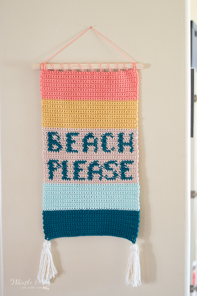 crochet wall hanging beachy beach summer crochet wall decor crochet pattern