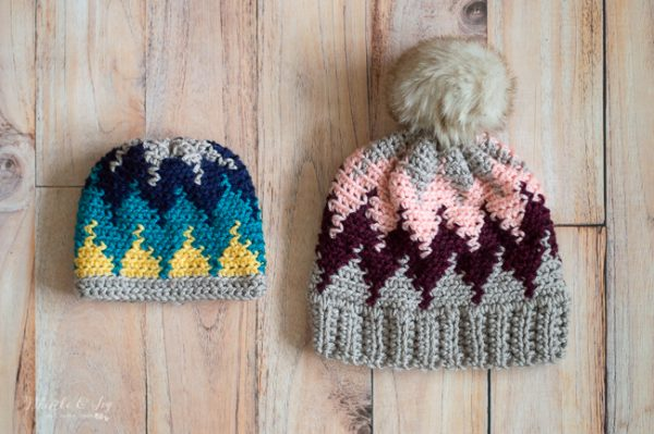 crochet chevron hat crochet pattern modern crochet hat design easy color work pattern