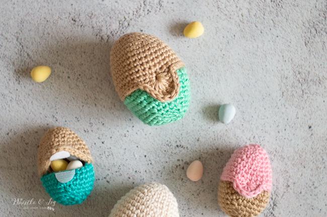 crochet eggs fillable eggs for Easter egg crochet pattern
