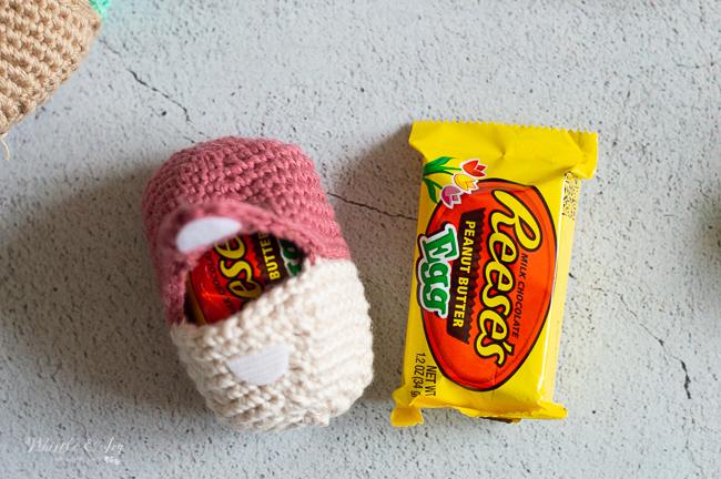 crochet Easter egg for treats Easter eggs hunts and Easter egg baskets crochet pattern