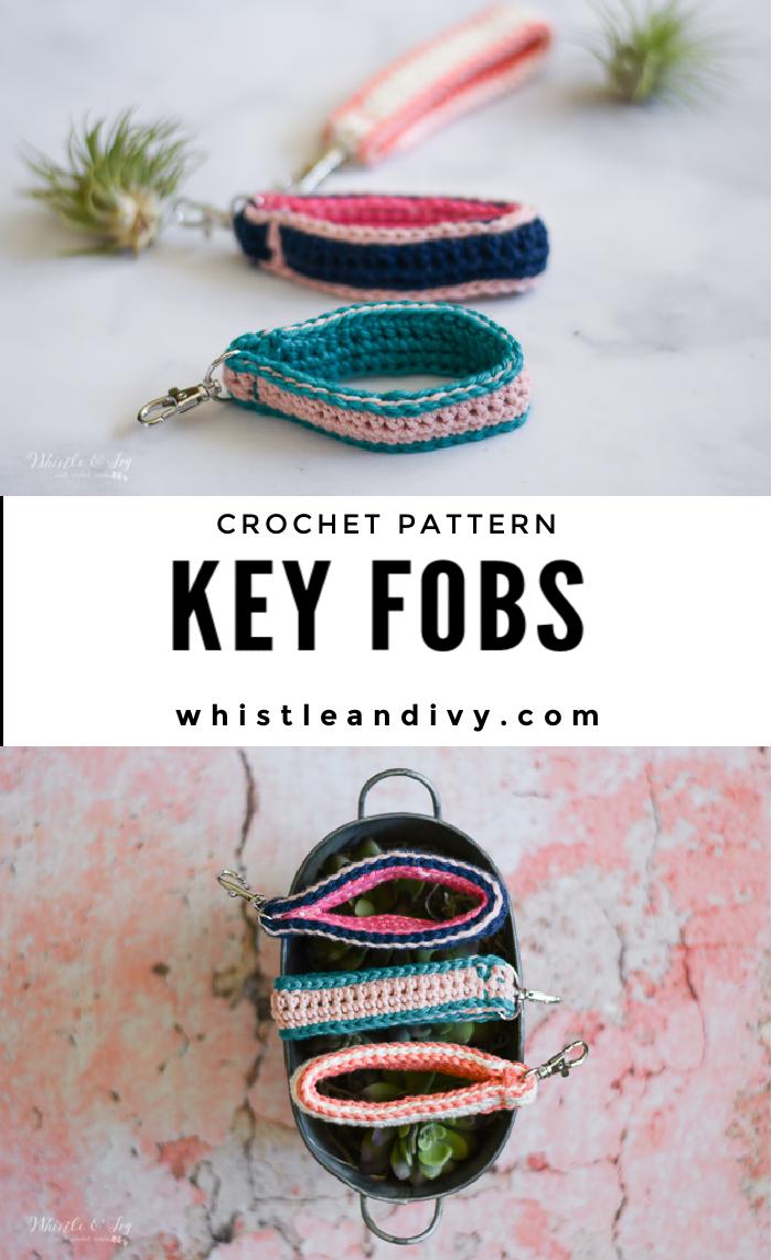 crochet key fob crochet pattern easy summer crochet pattern