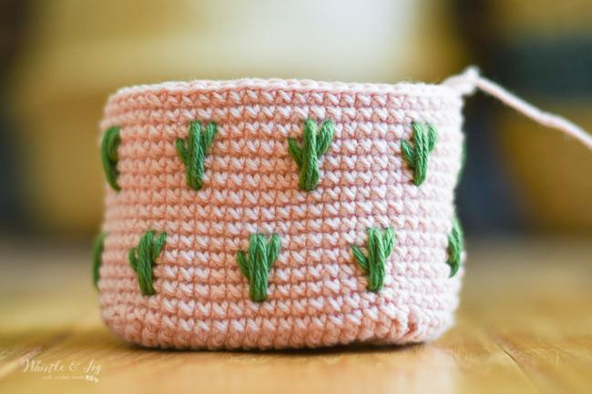 crochet cactus pouch crochet kiss clasp pouch