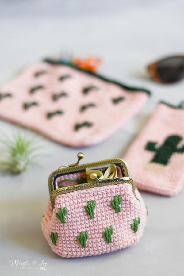 crochet kiss clasp pouch cute crochet pouch coin purse easy crochet pattern summer crochet ideas crochet gift ideas