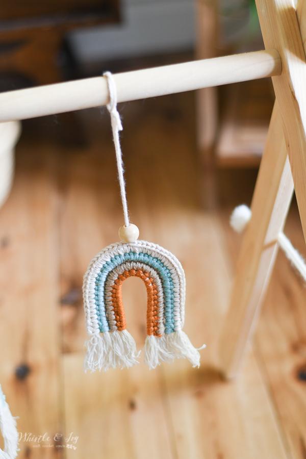 boho crochet rainbow crochet pattern boho baby ideas DIY baby toy
