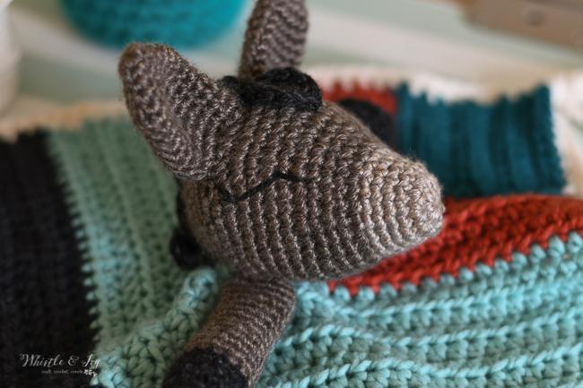cute crochet donkey lovey pattern