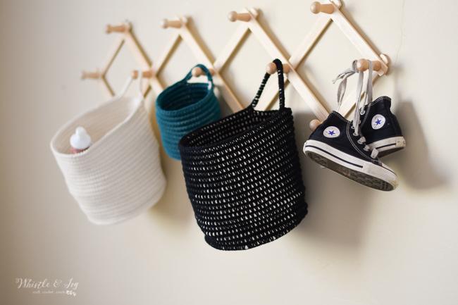 hanging baskets for crochet nursery modern crochet patterns