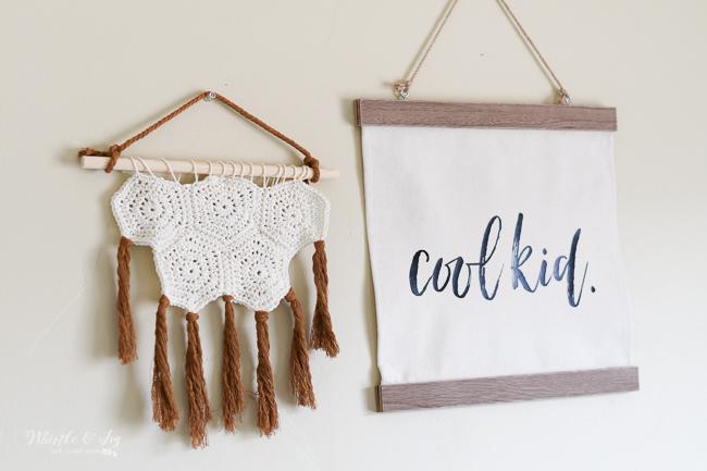 crochet hexagon wall hanging modern crochet nursery wall decor ideas