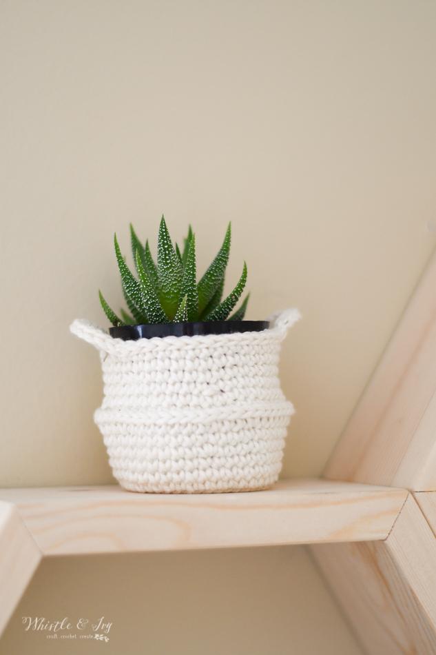 mini crochet belly basket crochet nursery ideas for gender neutral baby room crochet pattern