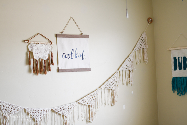 modern crochet nursery ideas for wall decor wall hangings